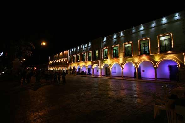 Valladolid de nuit Mexique