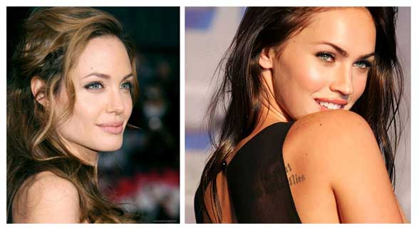 For that angelina jolie and megan fox lesbian are not