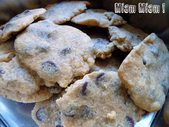 cookies au pepites de chocolat