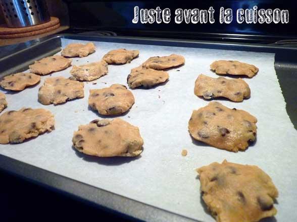 cookies fondants aux pepites de chocolat