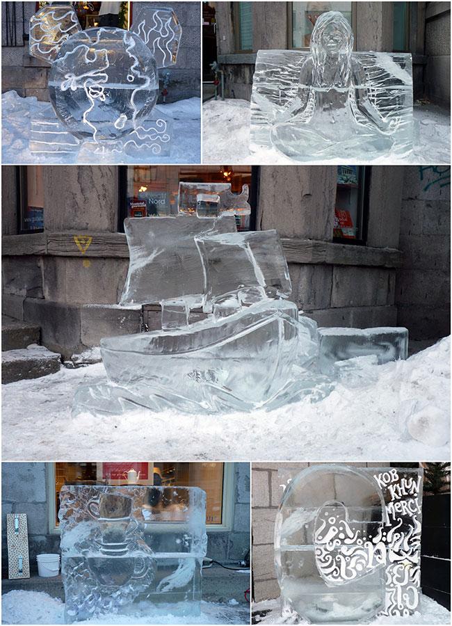sculptures de glace 1