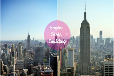 Empire state building vue du top of the rock