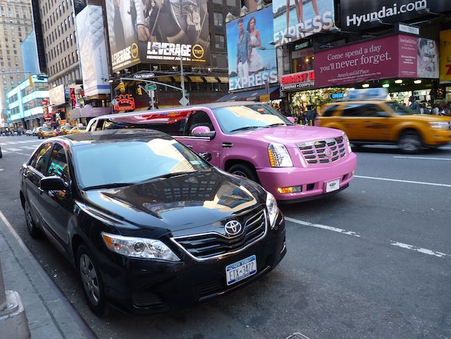 time square limousine rose