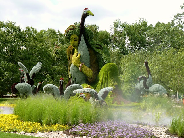 sculptures plantes montreal