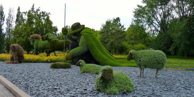 sculptures plantes