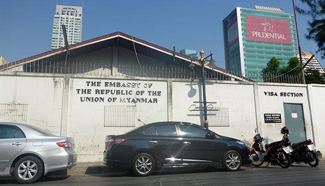 ambassade de birmanie bangkok