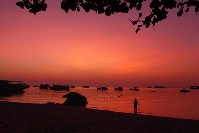 Koh Tao Thailande coucher de soleil