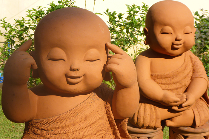 Mignons Bouddhas Chiang Mai Thailande