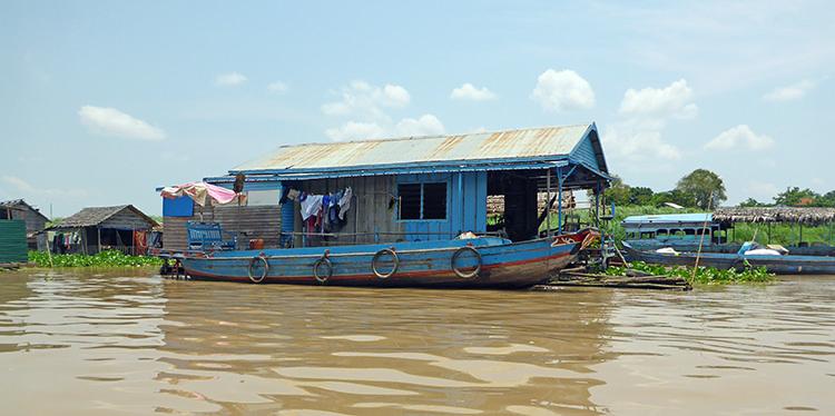 Kompong Chnang, Villages flottants, Tonlé Sap, Cambodge