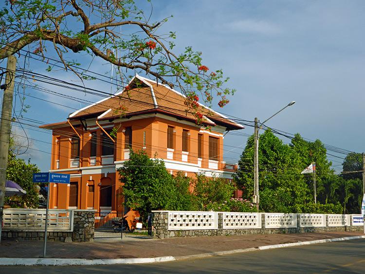 Maison coloniale, Kampot, Cambodge