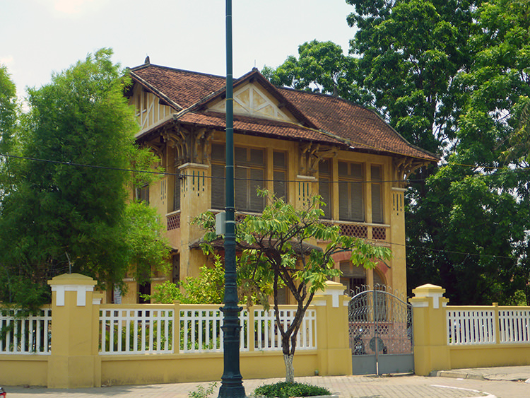 Maison coloniale, Phnom Penh, Cambodge
