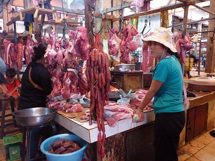Marché Phnom Penh, Cambodge