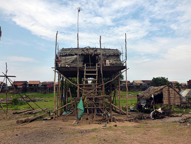 Kompong Khleang Village sur pilotis Cambodge
