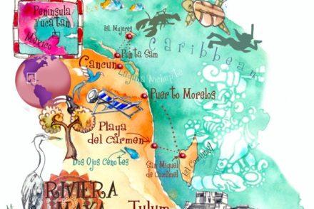 Yucatan, Map, Mexico