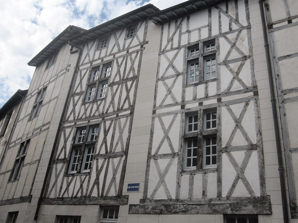 Poitiers, maison colombages