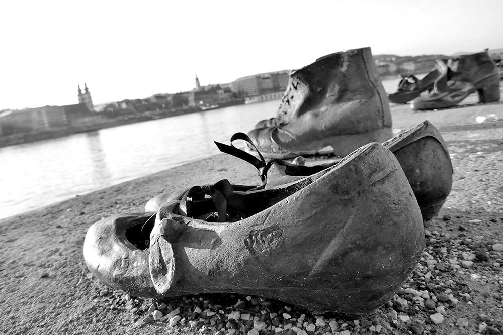 Chaussures au bord du Danube