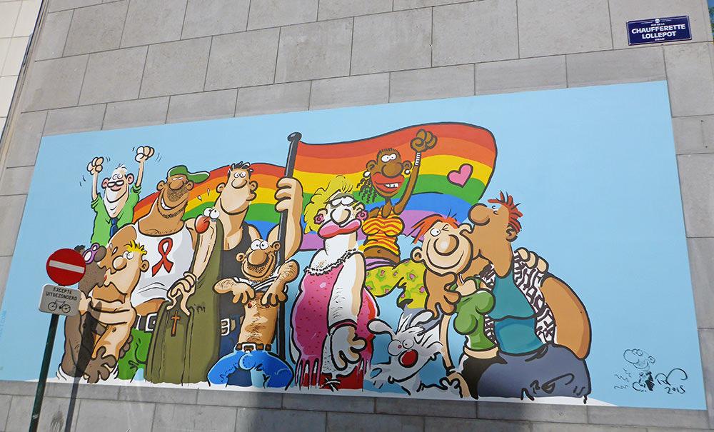 BD et Street Art à Bruxelles : Gay Friendly