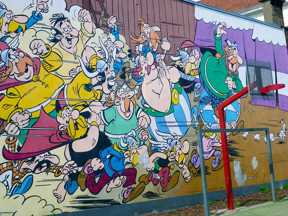 BD et Street Art à Bruxelles : Astérix et Obélix