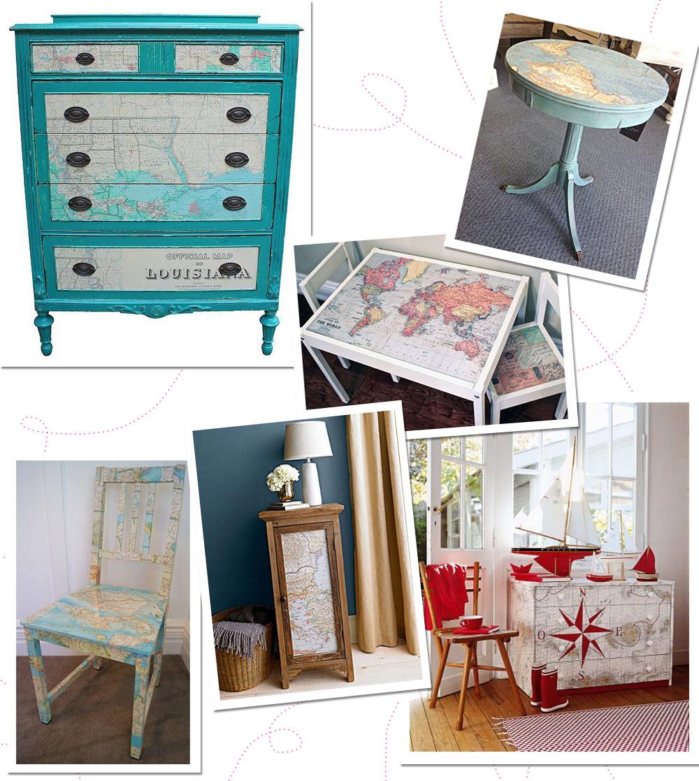 Idée de décoration voyage pour sa maison avec des meubles personnalisés