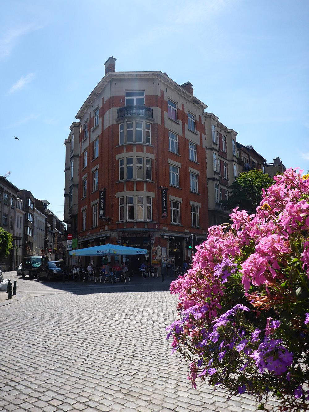 Rue fleurie de Bruxelles