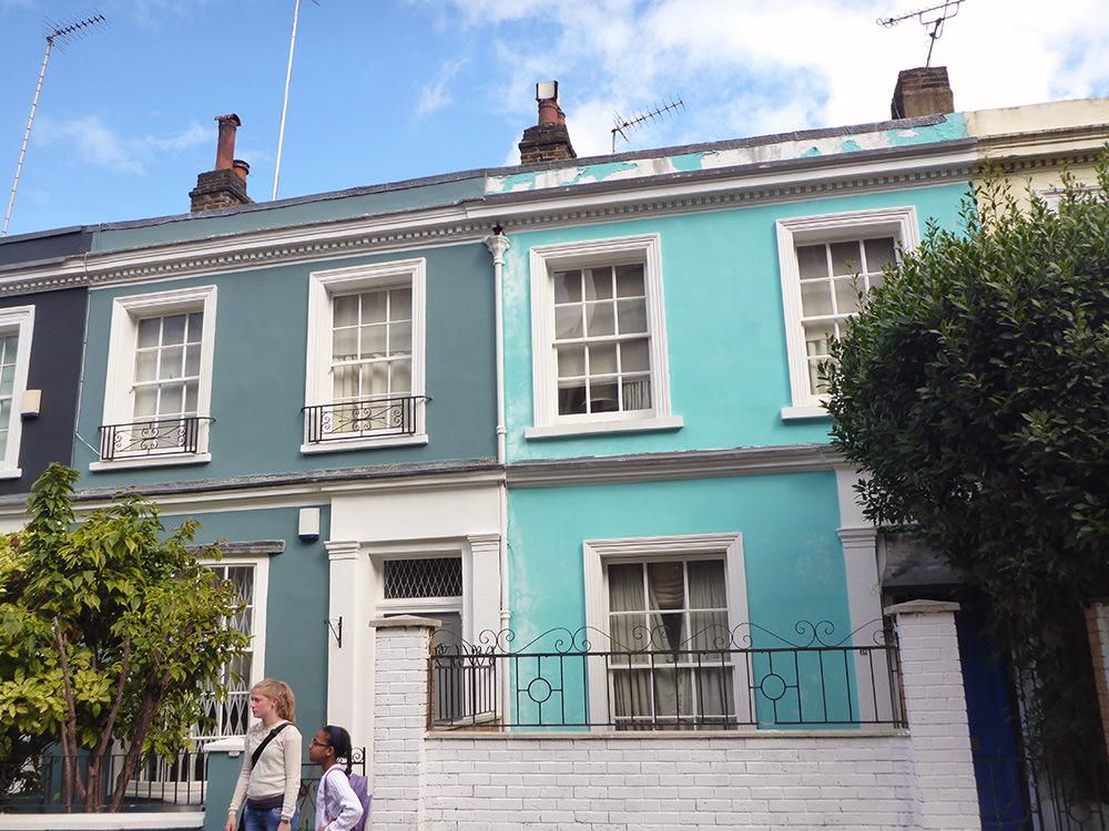 Les jolies façades de Notting Hill, Londres