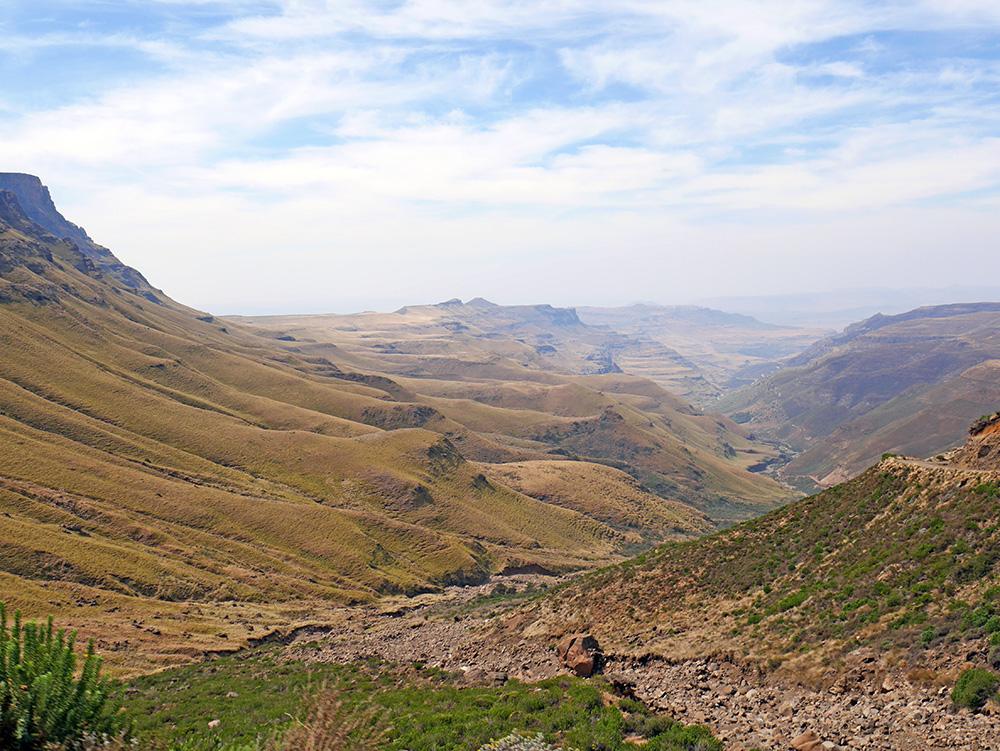 Route Sani Pass Lesotho