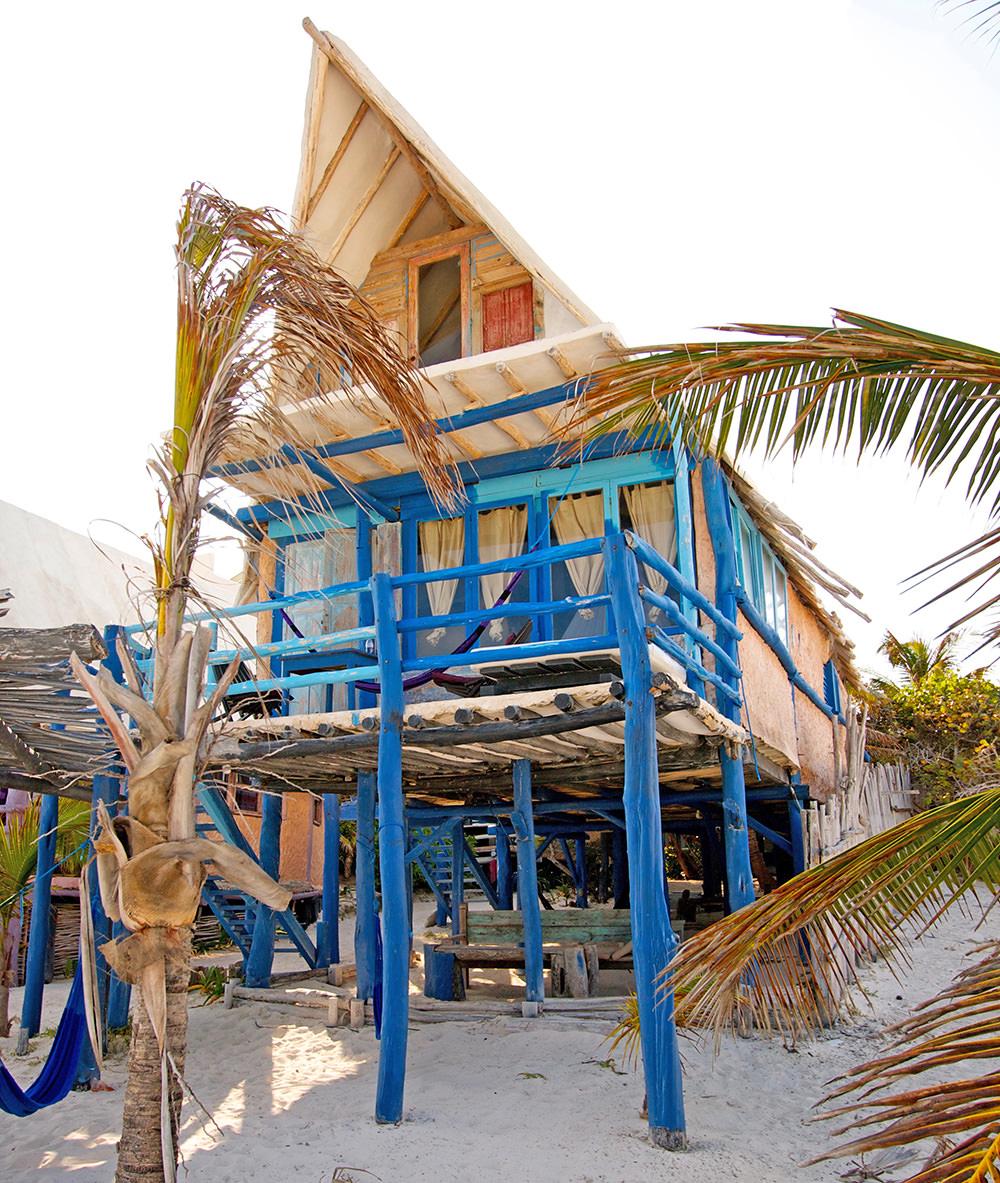 Bungalow du Posada Lamar à Tulum, au Mexique, Péninsule du Yucatan