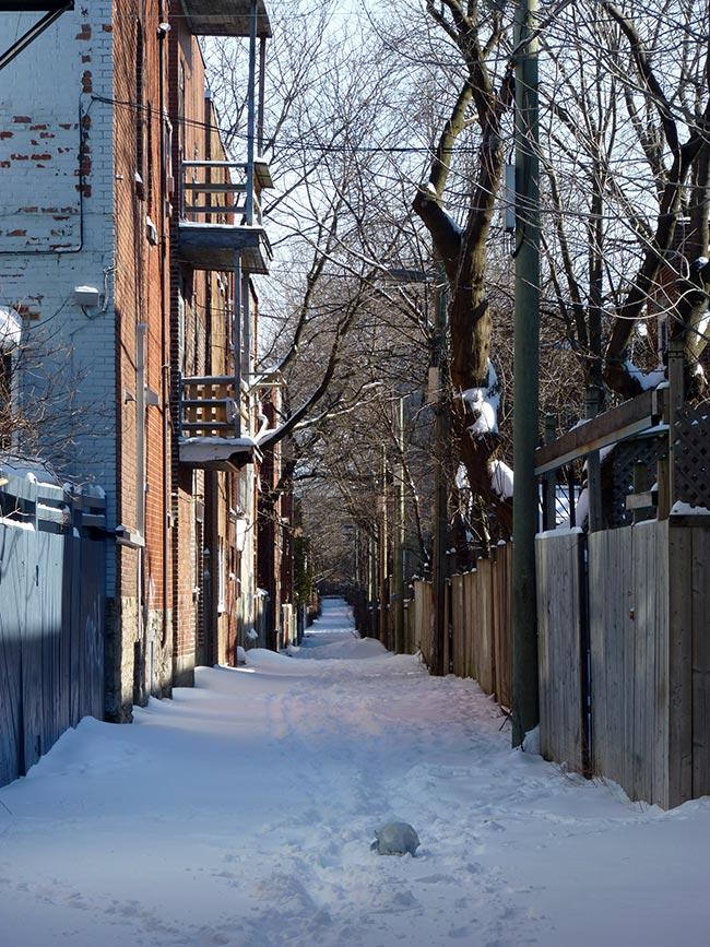 ruelle verte neige
