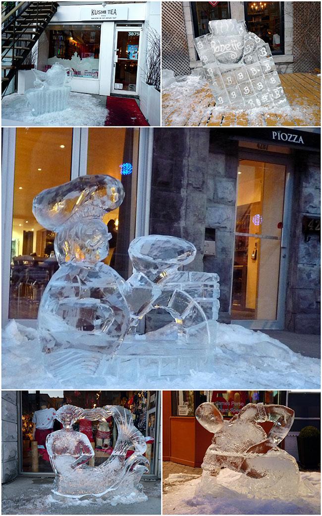 sculptures de glace