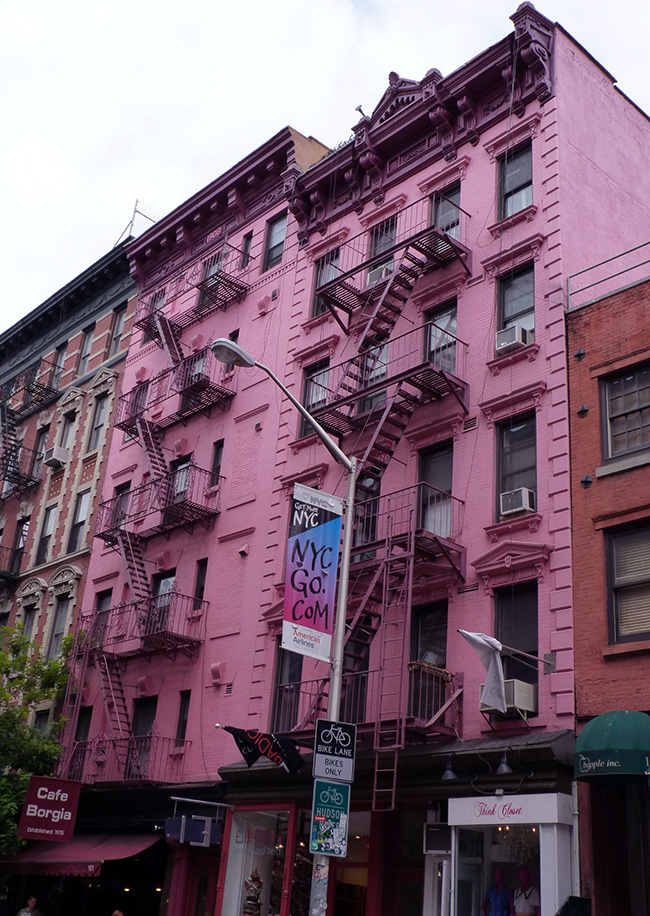 soho pink building