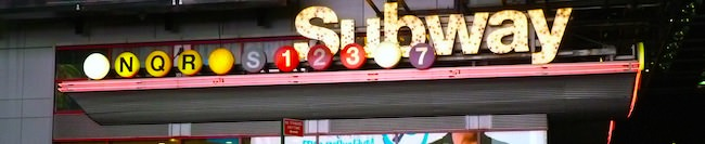 time square subway