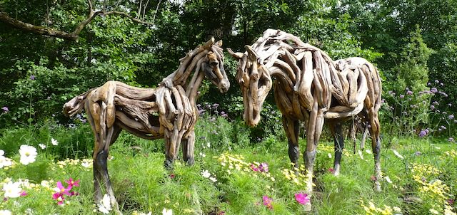 cheval bois mosaicultures