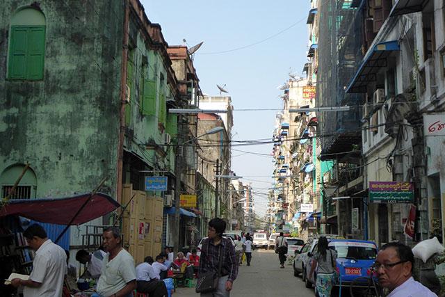 birmanie rue yangon