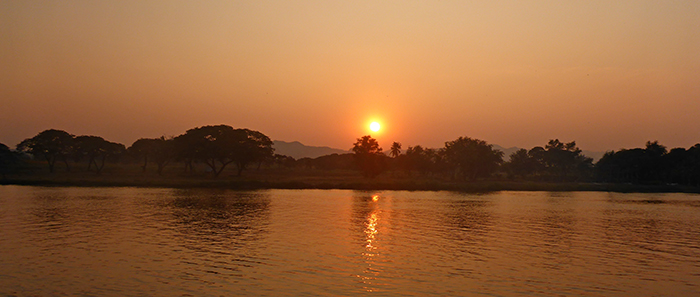 Coucher de soleil Kanchanaburi