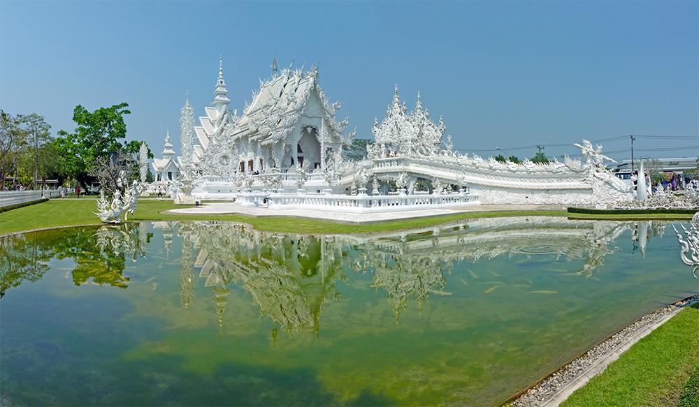 Wat Rong Khun Temple Blanc Chiang Rai