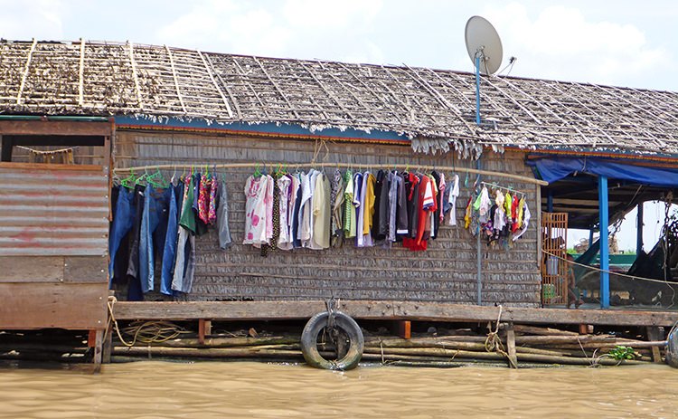 Kompong Chnang, Villages flottants, Tonlé Sap, Cambodge