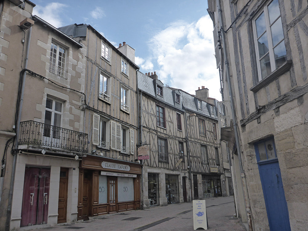 Poitiers, rues pavées