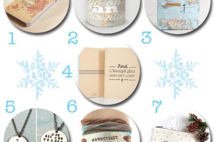 Idées de cadeaux de Noël pour voyageuse Etsy