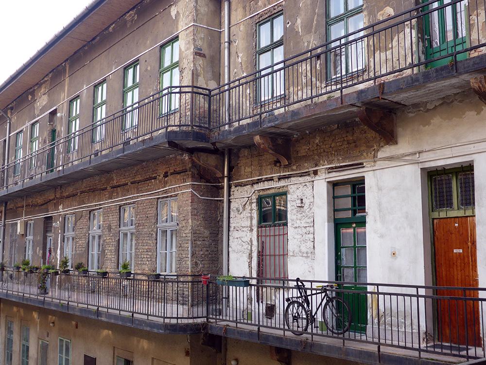 Immeuble de Budapest, quartier juif