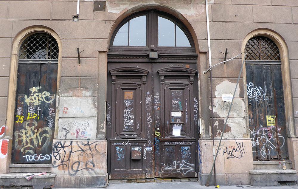 Portes délabrées, Budapest, Quartier Juif