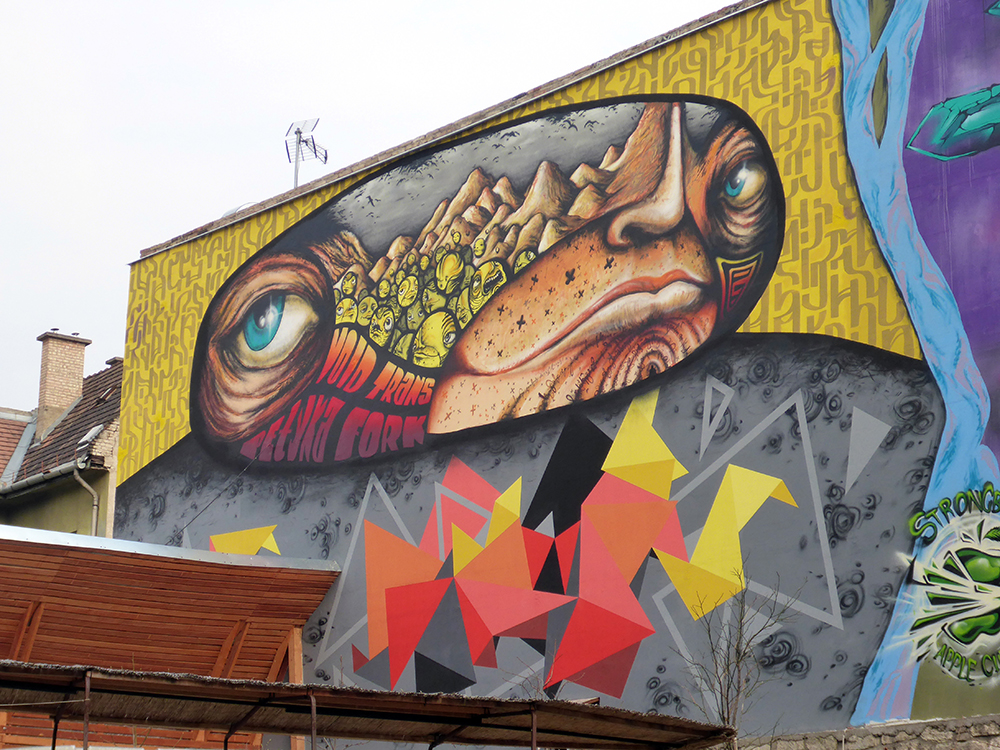 Street art dans le quartier juif de Budapest