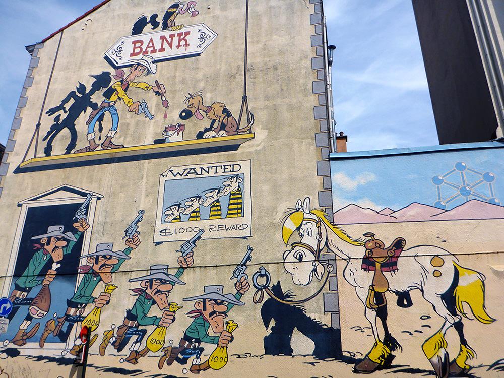 BD et Street Art à Bruxelles : Lucky Luke