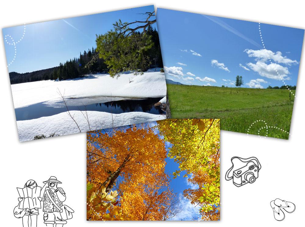 Les 4 saisons au Québec