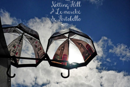 Les parapluies de Notting Hill, Londres