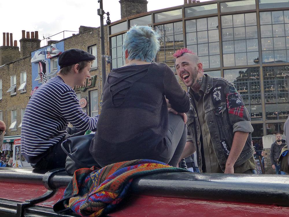 Punk sur Camden Town -Londres