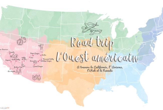 Carte itinéraire pour un road trop aux USA