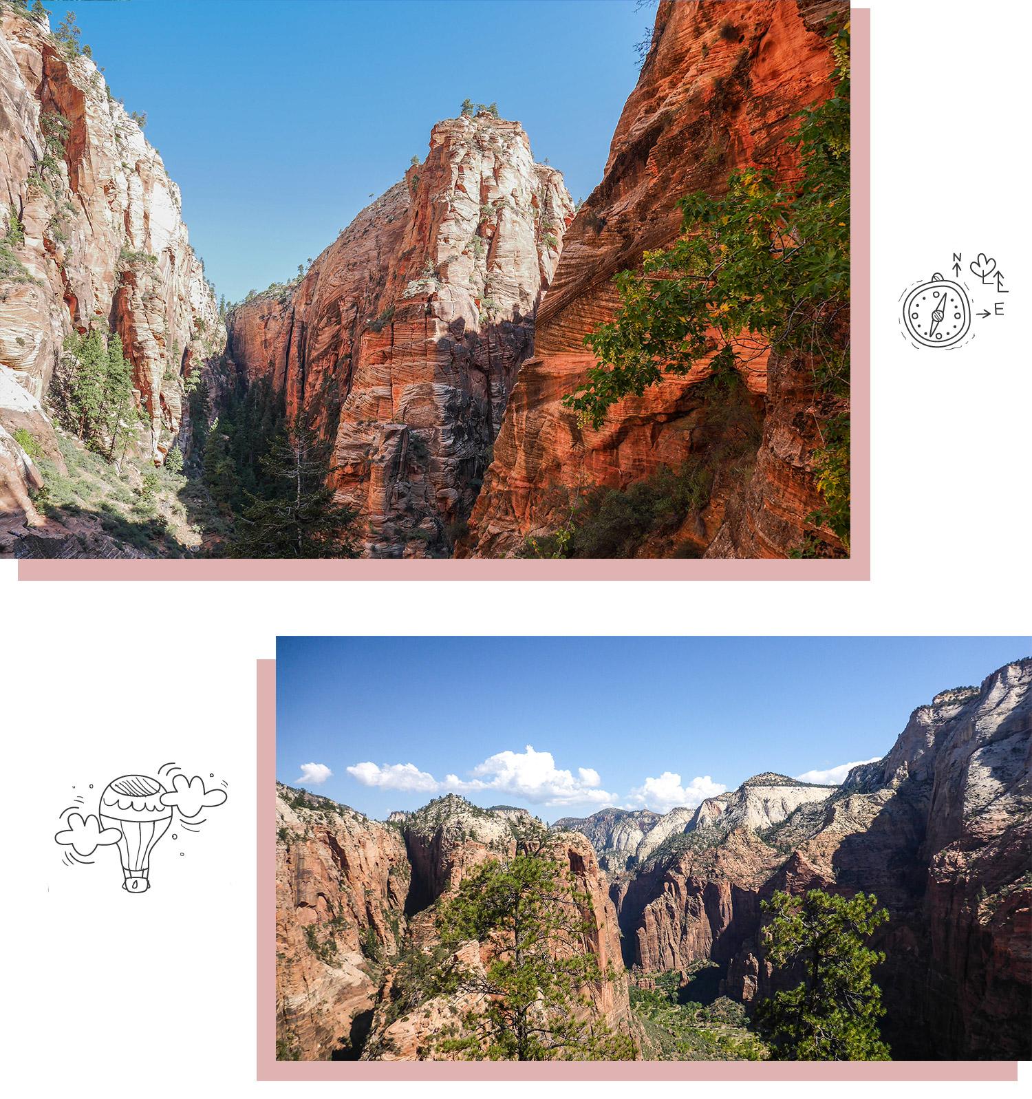 Découvrir les beaux paysages de Zion National Park pendant son road trip dans l'Ouest américain.